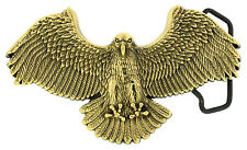 Eagle Attack Solid Brass Belt Buckle