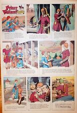 Prince Valiant by Hal Foster - scarce full page color Sunday comic Apr. 21, 1963