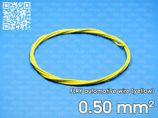 Automotive wire FLRY 0.5mm², yellow color, 1 meter length