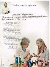 Publicité Advertising 1972 Cosmétique maquillage Déléguée Avon