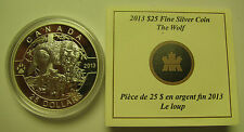 2013 Proof $25 O Canada #3-Wolf Wolves 1oz .9999 silver COIN & COA ONLY