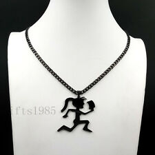 LARGE HIPHOP BLACK HATCHET GIRL STAINLESS STEEL PENDANT CUBAN CHAIN Juggalette