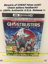 Ghostbusters 2016 4K Ultra HD/3D Blu-ray/Blu-ray+HD Brand New Sealed, Ships Fast