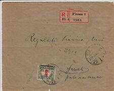 FIUME-6 filler(29)-Raccomandata Fiume- Susak 23.1.1919