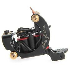 Cast Iron Tattoo Machine Gun 10 Wrap Coils Liner Shader Black Professional