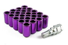Tuner Wheel Nuts STEEL - PURPLE - M12 x 1.25 Skyline Subaru