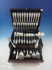 GRANDE BAROQUE BY WALLACE STERLING SILVER FLATWARE SET FOR 12 SERVICE 98 PIECES