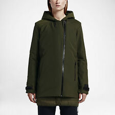 Nike Uptown 3 In 1 Short Parka Women's Jacket L Green Gym Casual Training NWT