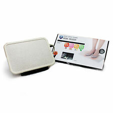 CARBON Portable Electric Foot Warmer Heater Timer PVC Mat Pad For Under the desk