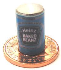 1.12 échelle vide fèves cuites maison de poupées en étain des aliments canettes miniatures accessoire bleu