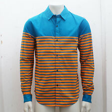 NEW Adidas x Opening Ceremony Blue & Orange Dress Shirt GENUINE RRP: £95 - L