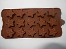New 15 hole Silicone Large Star Shape Mould Jelly Ice Candy Chocolate Cake