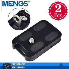2x MENGS QR-60 Quick Release Plate Strap Buckle & Attachment Loop For Benro Kirk