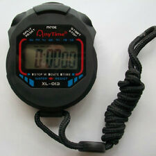 Digital Handheld LCD Chronograph Timer Sports Stopwatch New
