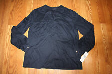 NWT Womens TOMMY HILFIGER Masters Navy Tunic Long Sleeve Shirt Sz 2XL XXL