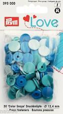 Love Druckknöpfe Color Snaps 393000 blautöne 12,4 mm Prym nähen stricken Knopf