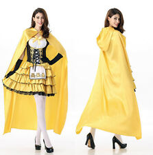 Yellow Little Red Riding Hood Storybook Fancy Dress Halloween Costume Outfit S/M