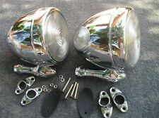 NEW CHROME PAIR OF VINTAGE STYLE DUMMY SPOT LIGHTS #