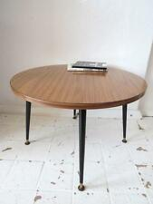 Vintage Teak Effect Coffee Table or Mid Century Modernist Round Table