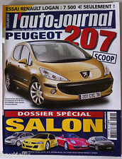 ►L'AUTO-JOURNAL du 9/2004; Dossier Spécial Mondial Automobile/ Scoop 207