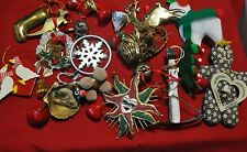 Lot of vintage wooden,snow flake, Christmas ornaments