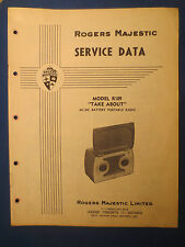 ROGERS MAJESTIC R109 TAKE ABOUT RADIO SERVICE MANUAL ORIGINAL FACTORY ISSUE