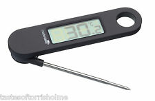 Master Class Folding Electronic Digital LCD Food Cooking Thermometer Metal Probe
