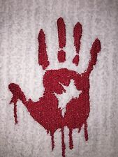 Embroidered 100% Cotton Kitchen  Bar HAND TOWEL BS0305 BLOODY HAND PRINT ZOMBIE