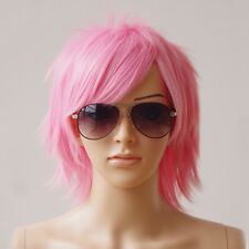 Unisex Cosplay Short Hair Wig Women Men Straight Halloween Party Costume Wigs US
