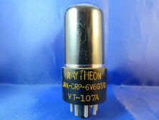 6V6GT/G RAYTHEON/RCA # NOS # dark smoked glass # JAN # bottom-D-Getter (8428)
