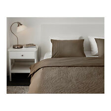 Ikea Alvine Stra King Duvet Cover & Pillowcases Brown 901.726.24 STRÅ NEW COTTON