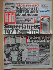 Bild Zeitung vom Dienstag 21.8.1984, Liz Taylor, Tracy Lloyd Wright