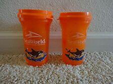 Shamu Orange Glasses x2 Sea World
