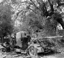 WW2 Photo WWII  Destroyed German Artillery in Italy 1944 World War Two  / 4139