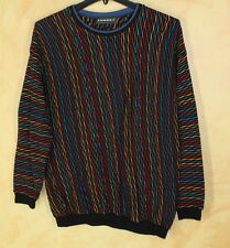 TUNDRA Mens Art-to-Wear Funky Colorful Textured Crewneck Sweater Sz L