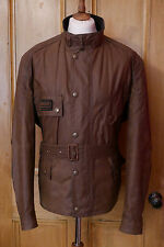 Mens Barbour Short Quilted Trials waxed brown biker jacket XXL 2XL XL rrp £225