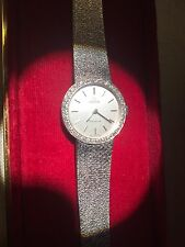 OMEGA LADIES 18 CT WHITE GOLD AND DIAMOND WATCH EXCELLENT CONDITION