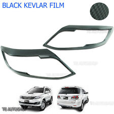 Kevlar Carbon Front Head Lamp Light Cover Fit Toyota Fortuner Suv 4x4 2012 13 15
