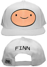 Adventure Time Finn Mens Snapback Hat Adjustable Flatbill Baseball Cap WHITE