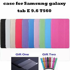 Folio Flip PU Leather Cover Stand Case For Samsung Galaxy Tab E 9.6  T560 T561