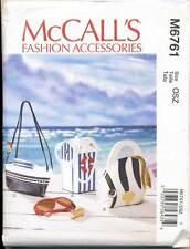 MCCALL'S SEWING PATTERN 6761 NOVELTY BAGS W/ BEACH THEME: BOAT, BOATHOUSE, FISH