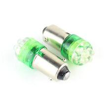 2x VERDE 4-LED BA9S (233 T4W) CC 12V Lato Interno Lampadine