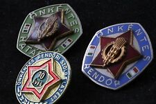 Hungary Lot 3 Service Badge Volunteer Police 10 Year Border Frontier Guard Badge