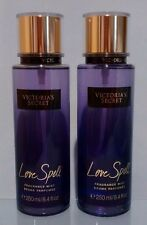 VICTORIA'S SECRET LOVE SPELL FRAGRANCE MIST BODY SPRAY 8.4 FL.OZ (LOT 2)