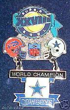 Super Bowl 28 Dallas Cowboys v Buffalo Bills Hanging Champs Dangle Pin