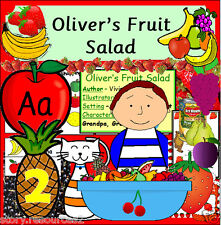 OLIVER'S FRUIT SALAD STORY TEACHING RESOURCES KS1 EYFS HEALTHY EATING GROWING cd