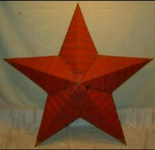New Rustic Genuine Amish Quality Primitive 22 inch Barn Star USA Made Barn Red