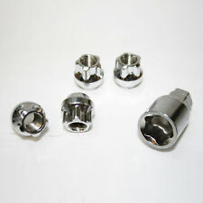 4 Wheel Locking Alloy Nuts M12 x 1.25 Lug Bolts Tapered Stainless Steel Chrome
