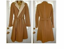 Vtg Wool Belted Long Coat Double Breasted 1970s High School Alorna Winter Coat L