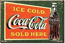 Coca Cola Ice Cold (pers) steel fridge magnet  (de)